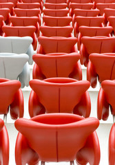 Unoccupied chairs on stadion arena