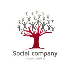 social, ressources humaines, logo d'entreprise