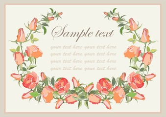 Greeting card with rose.