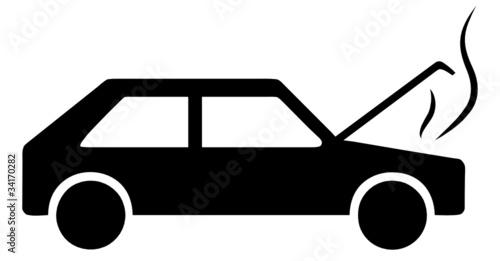 Quot Auto Piktogramm Motor Motorschaden Symbol Defekt Panne