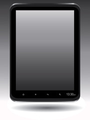 Touch tablet PC with blank screen vector Illustration.