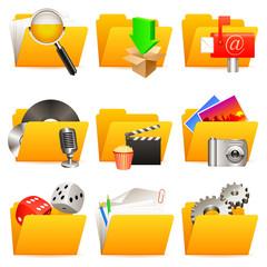 Folder icons.