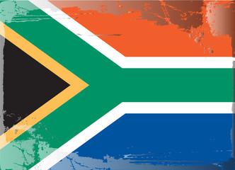 Grunge flag series-South Africa, vector illustration