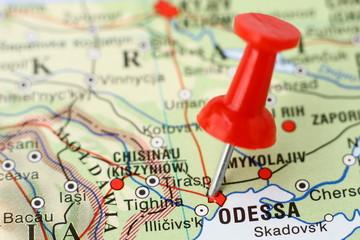 Poster Algérie Pushpin on the map - Odessa, Ukraine