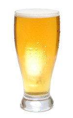 beer is in glass