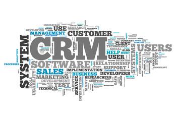 "Word Cloud ""CRM - Customer Relationship Management"""