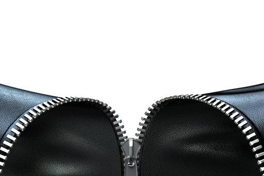 Opening zipper