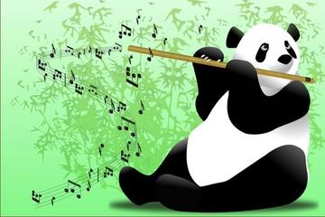 panda flutiste