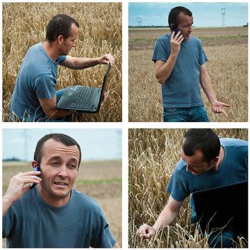 composition agriculteur moderne