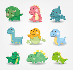 cartoon dinosaur icon.