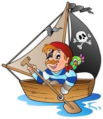 Foto op Plexiglas Piraten Young cartoon pirate 1