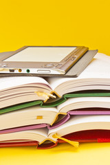traditional books and electronic book