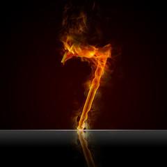 Texteffekt Flammen 7