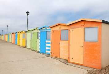 Seafront beach huts