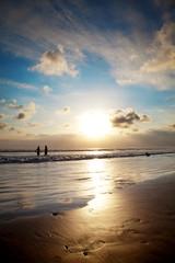 Golden sunset in Bali