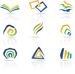 illustration of Free Style Abstract Icons