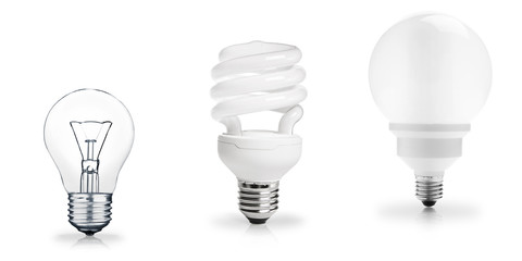 Three generations of light bulbs
