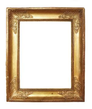 cadre ancien doré
