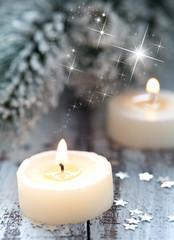 Kerzen zur Weihnachtszeit