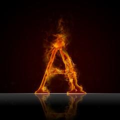 Texteffekt Flammen A