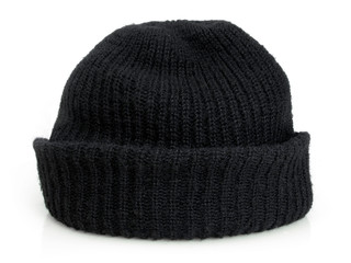 Bob's black knit cap