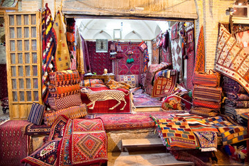 Shop of Persian carpets and rugs, Shiraz, Iran