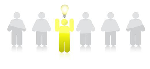leading idea row illustration design