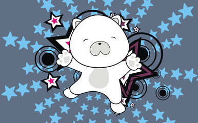 polar bear baby cartoon jump background