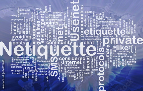 netiquette for today's business environment Net etiquette, aka as netiquette, was designed specifically to overcome barriers in e-mail communication, it's a collection or guidelines and rules that improve our overall e-mail interactions.