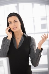 Attractive woman on mobile call