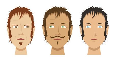 three different faces