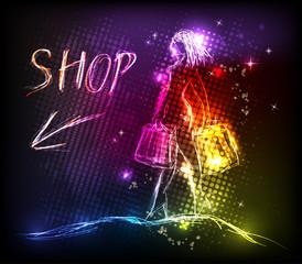 Lady shop light design