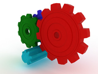 Plastic gears of different colors №2