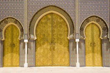 Fotobehang Marokko porta palazzo imperiale fes