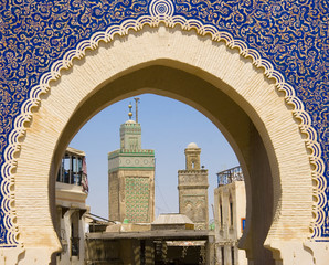 In de dag Marokko La porta blu medina di Fes