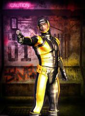 futuristic soldier manga secret agent