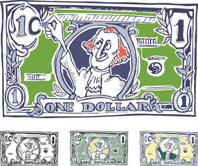 comic American dollar. The increase in nominal