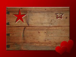 Weihnachten Holz rot