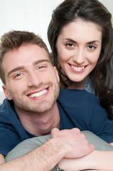Loving couple smiling