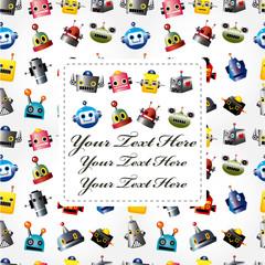 cartoon robot head card