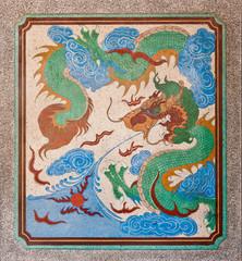 dragon painting on mable wall