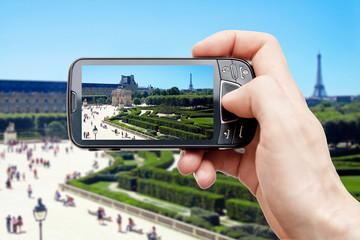photo taken by smart phone in paris