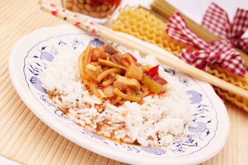 Asiatische Reispfanne