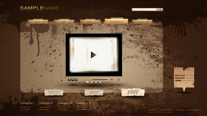 Vintage Portfolio Website page/video 1600x900
