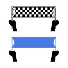 Diseño de dos banderas