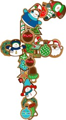 f gingerbread alphabet patch