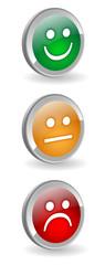 TRAFFIC LIGHTS Buttons (green orange red satisfaction survey)