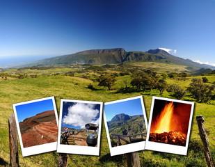Paysages de l'île de La Réunion.
