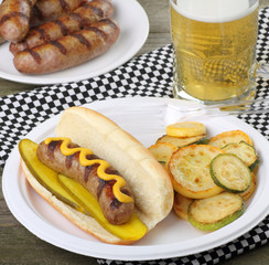 Grilled Bratwurst Meal