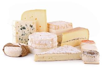 fromage détouré sur fond blanc